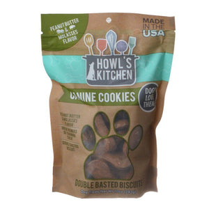 Howl's Kitchen Canine Cookies Double Basted Biscuits - Peanut Butter & Molasses Flavor - 10 oz - PetStoreNMore