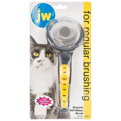 JW Gripsoft Cat Slicker Brush - PetStoreNMore