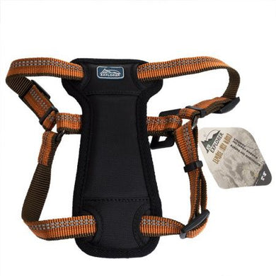 K9 Explorer Reflective Adjustable Padded Dog Harness - Campfire Orange - PetStoreNMore