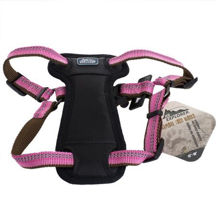 K9 Explorer Reflective Adjustable Padded Dog Harness - Rosebud - PetStoreNMore