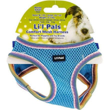 Load image into Gallery viewer, Li'l Pals Comfort Mesh Dog Harness Blue Lagoon - PetStoreNMore