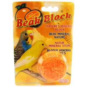 Living World Beak Block - Nature's Minerals - Orange - PetStoreNMore