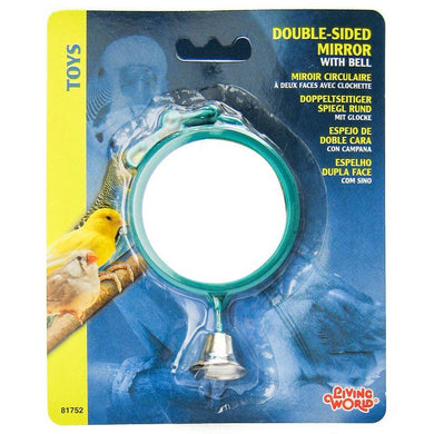 Living World Double Sided Mirror with Bell Bird Toy - PetStoreNMore