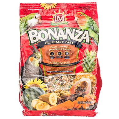 LM Animal Farms Bonanza Cockatiel Gourmet Diet - PetStoreNMore