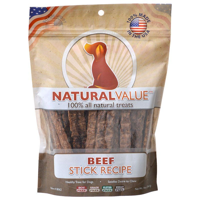 Loving Pets Natural Value Beef Sticks - 14 oz - PetStoreNMore