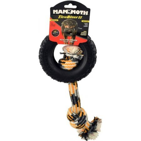 Mammoth Tirebiter II Dog Toy with Rope Medium