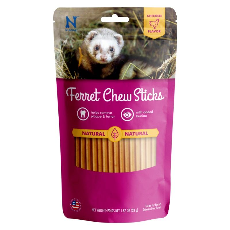 N-Bone Ferret Chew Sticks Chicken Flavor 1.87 oz