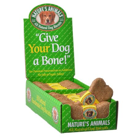 Natures Animals All Natural Dog Bone - Cheddar Cheese Flavor - 24 Pack - PetStoreNMore
