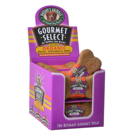 Natures Animals Gourmet Select Organic Dog Bone - Carrot Flavor