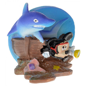 Penn Plax Mickey Shipwreck Resin Ornament