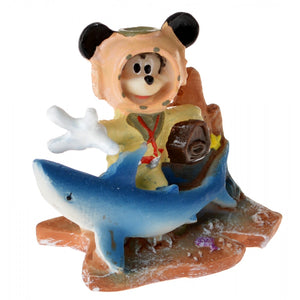 Penn Plax Mickey with Treasure Chest Resin Ornament