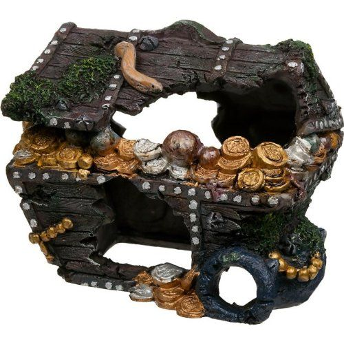 Penn Plax Treasure Chest Aquarium Decor