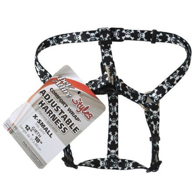 Pet Attire Styles Skulls Comfort Wrap Adjustable Dog Harness - PetStoreNMore