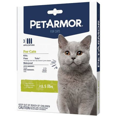 PetArmor Flea and Tick Treatment for Cats (Over 1.5 Pounds)  3 count