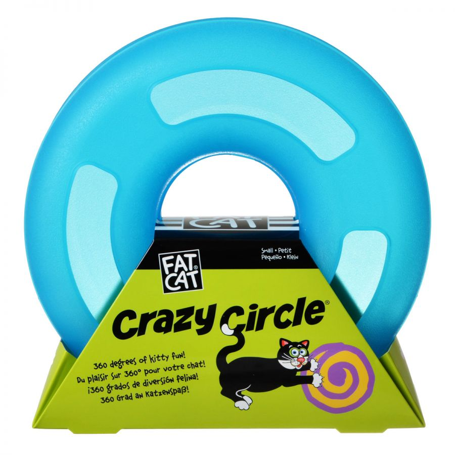 Petmate Crazy Circle Cat Toy - Blue - PetStoreNMore