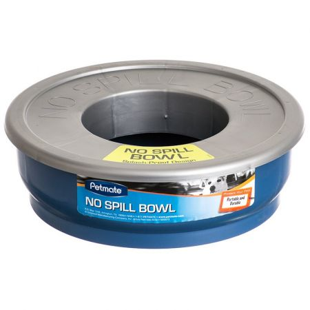 Petmate No-Spill Travel Bowl - Blue