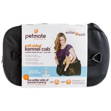 Petmate Soft Sided Kennel Cab Pet Carrier - Black - PetStoreNMore