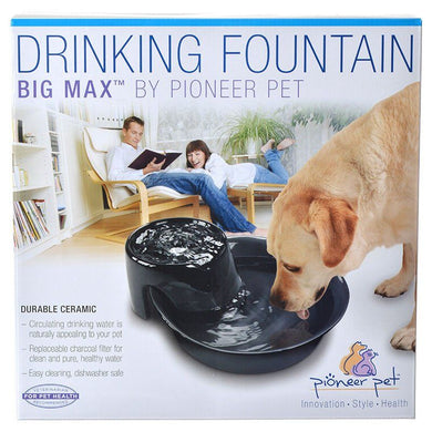 Pioneer Big Max Ceramic Drinking Fountain - Black