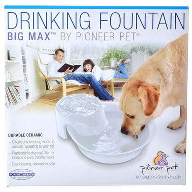 Pioneer Big Max Ceramic Drinking Fountain - White