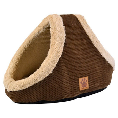 Precision Pet SnooZZy Mod Chic Double Hide & Seek Cat Bed - Coffee - PetStoreNMore