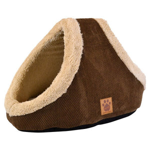 Precision Pet SnooZZy Mod Chic Double Hide & Seek Cat Bed - Coffee