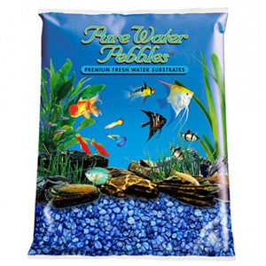 Pure Water Pebbles Aquarium Gravel - Marine Blue