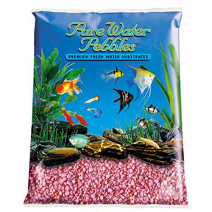 Pure Water Pebbles Aquarium Gravel - Neon Pink