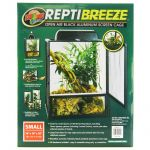 Zoo Med Reptibreeze Open Air Aluminum Screen Cage - Black - Reptile