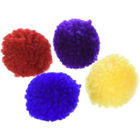 Spot Wool Pom Poms with Catnip Cat Toy