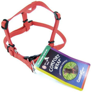 Tuff Collar Comfort Wrap Nylon Adjustable Dog Harness - Red - PetStoreNMore