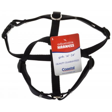 Tuff Collar Nylon Adjustable Dog Harness - Black - PetStoreNMore