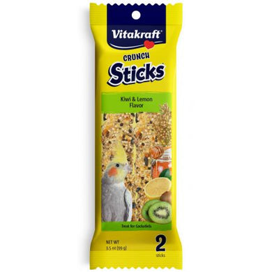 Vitakraft Crunch Sticks Kiwi & Lemon Cockatiel Treats - PetStoreNMore
