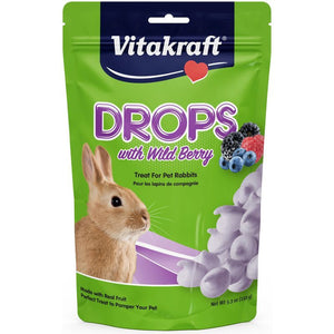 Vitakraft Drops with Wild Berry for Pet Rabbits 5.3 oz