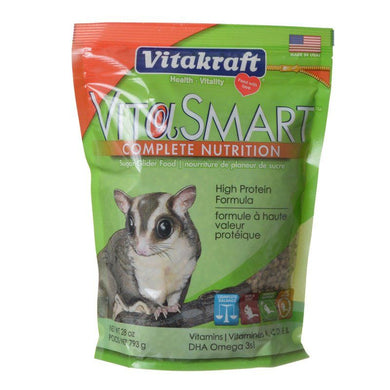 Vitakraft VitaSmart Complete Nutrition Sugar Glider Food 28 oz
