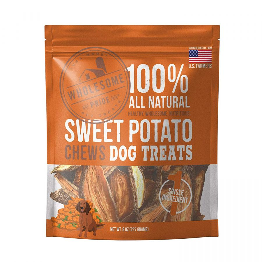 Wholesome Pride Sweet Potato Chews Dog Treats - PetStoreNMore