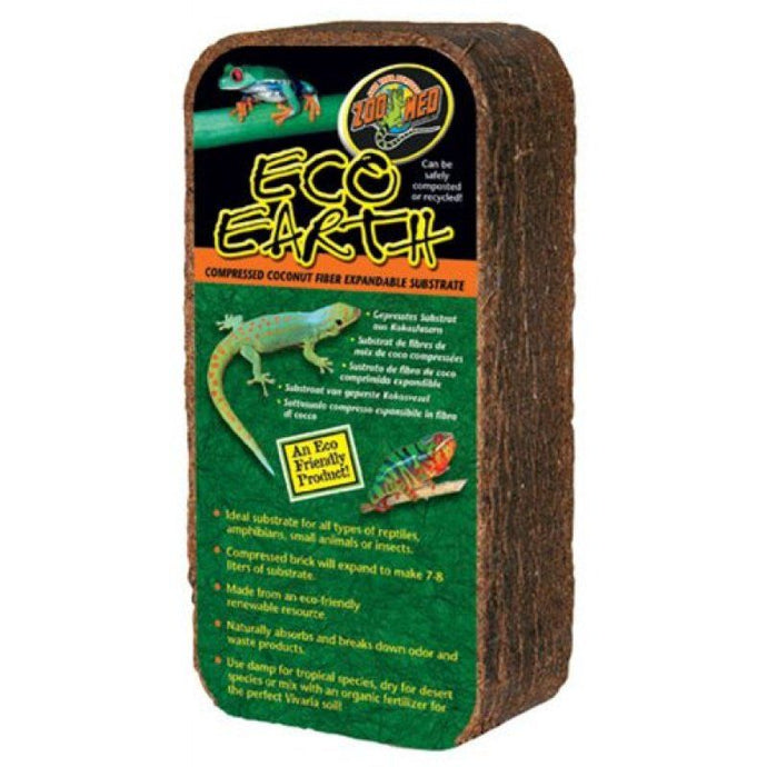 Zoo Med Eco Earth Compressed Coconut Fiber Expandable Substrate - Reptiles