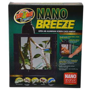 Zoo Med Nano Breeze Aluminum Screen Cage Habitat - reptiles