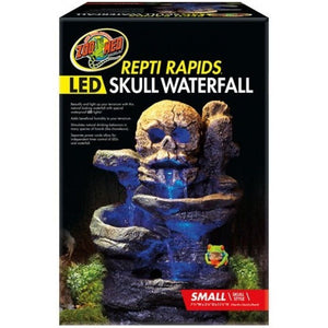 Zoo Med Repti Rapids LED Skull Waterfall - PetStoreNMore