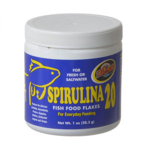 Zoo Med Spirulina 20 Flakes Fish Food