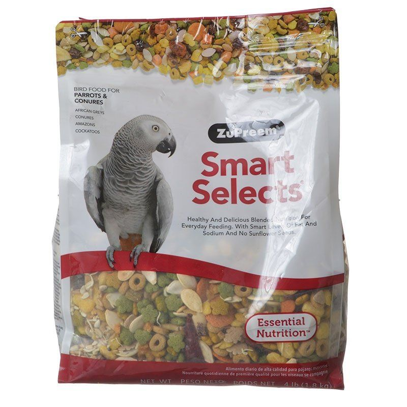 ZuPreem Smart Selects Bird Food for Parrots & Conures 4 lbs