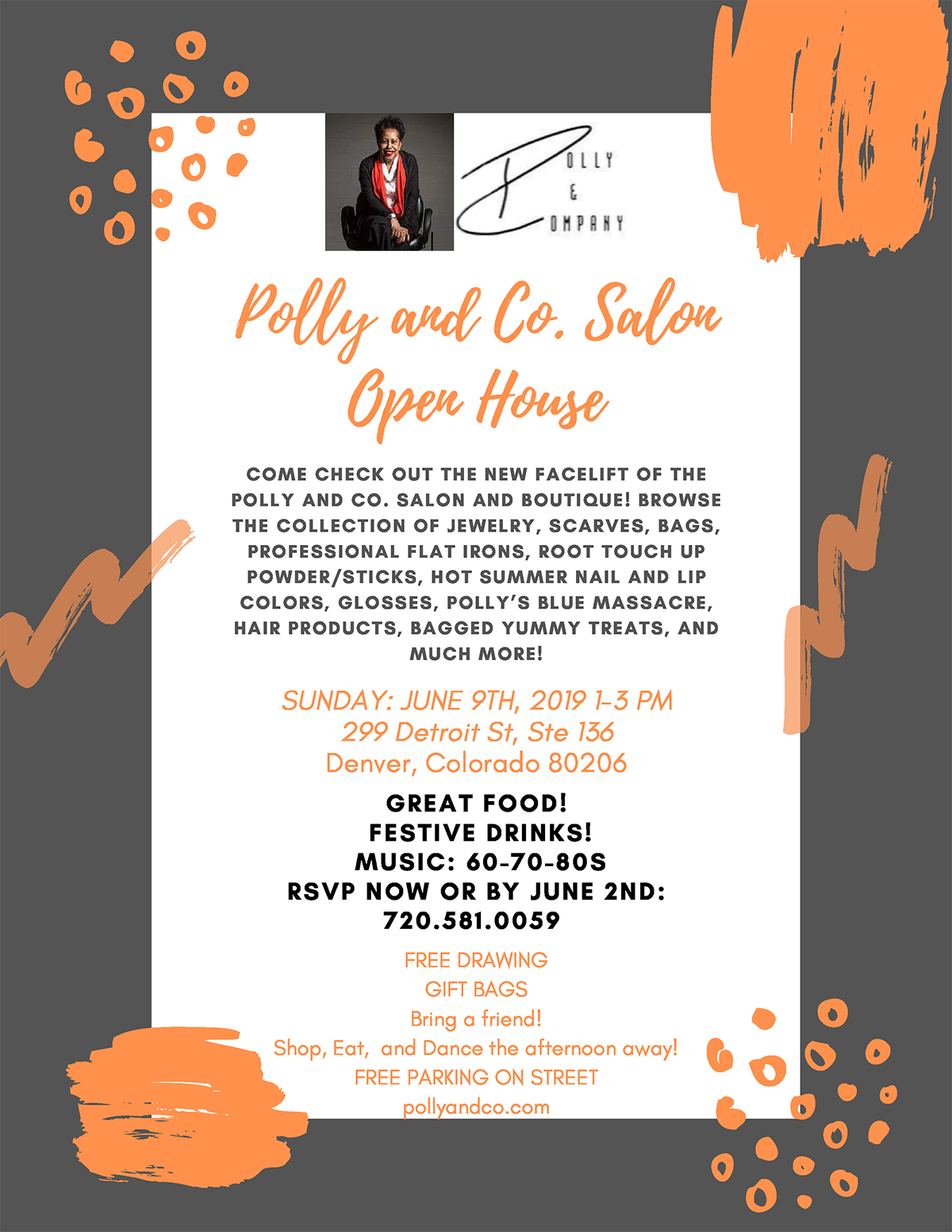 Polly & Co Open House Invitation