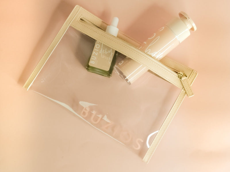 Beige Travel Clutch - Buzios Skin Co.