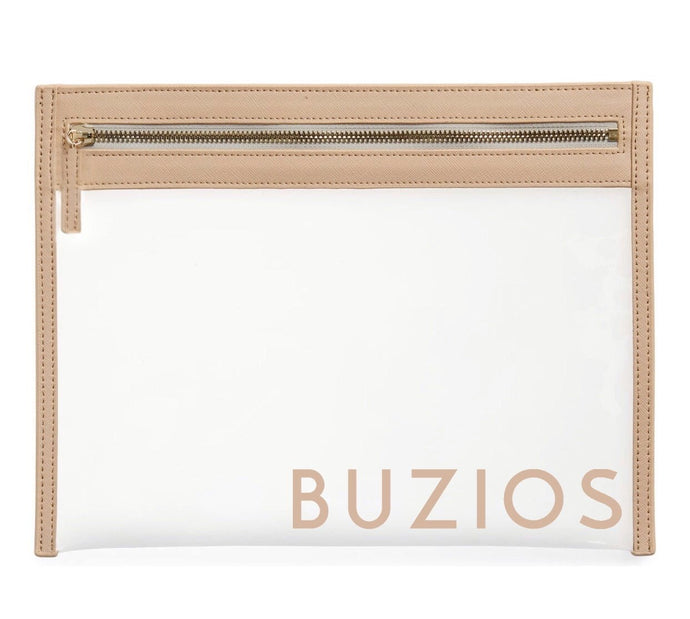 Beige Travel Clutch - Buzios Skin Co