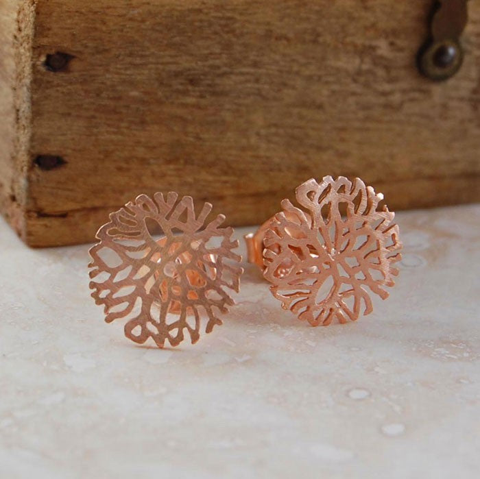 Silver and Rose Gold Snowflake Necklace