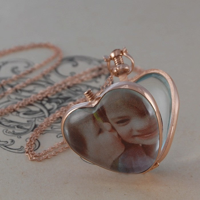 Vintage Rose Gold Heart Locket - Otis Jaxon Silver Jewellery