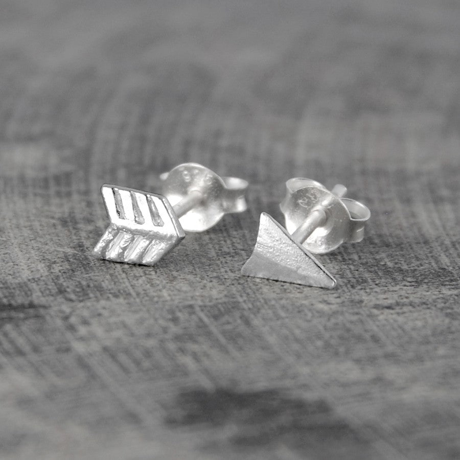 Gold Arrow Stud Earrings - Otis Jaxon Silver Jewellery