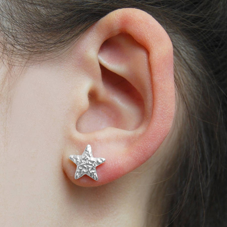 Starfish Silver Earrings - Otis Jaxon Silver Jewellery