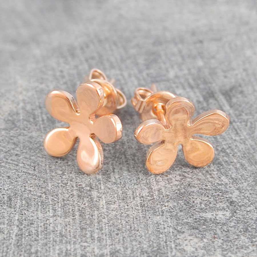 Blossom Rose Gold Stud Earrings
