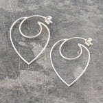 Contemporary Heart Hoop Earrings - Otis Jaxon Silver Jewellery