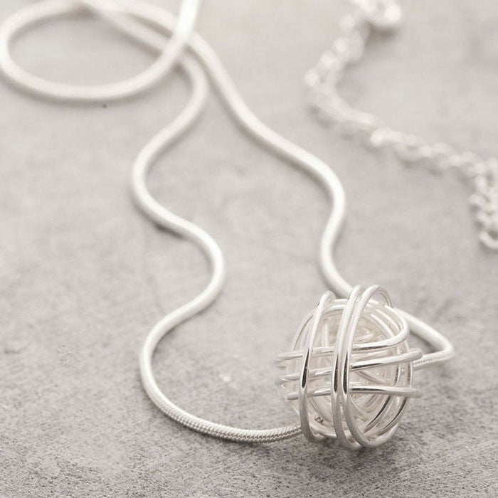 Nest Silver Knot Necklace - Otis Jaxon Silver Jewellery